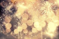 Vuurwerk bij Nieuwjaar Royalty-vrije Stock Afbeelding
