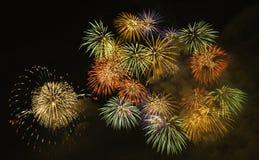 Vuurwerk in biwa-Meer Stock Afbeeldingen