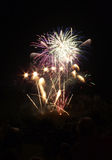 Vuurwerk in blauw Royalty-vrije Stock Foto's