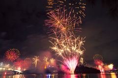Vuurwerk in Brisbane - 2014 Stock Foto