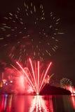 Vuurwerk in Brisbane - 2014 Royalty-vrije Stock Foto