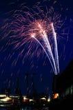 Vuurwerk Bristol Harbour Royalty-vrije Stock Foto's