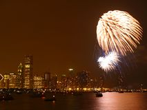 Vuurwerk in Chicago #2 Stock Foto's