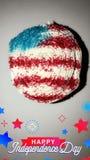 Vuurwerk cupcake stock foto