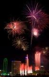 Vuurwerk - Dallas Texas Royalty-vrije Stock Afbeelding