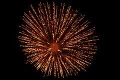 Vuurwerk in dark stock afbeeldingen