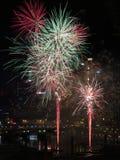 Vuurwerk, Darling Harbour, Sydney Royalty-vrije Stock Afbeelding