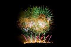 Vuurwerk dat omhoog de Hemel aansteken Stock Afbeelding