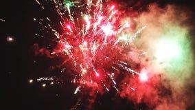 Vuurwerk in de hemel stock footage