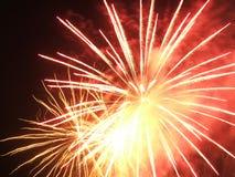 Vuurwerk in de hemel royalty-vrije stock fotografie