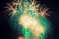 Vuurwerk in de Hemel van Nacht Royalty-vrije Stock Foto