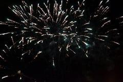 Vuurwerk de nachthemel Stock Foto's