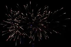 Vuurwerk de nachthemel Stock Foto