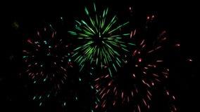 Vuurwerk De viering van de vakantie stock video