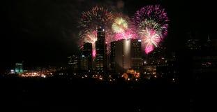 Vuurwerk Detroit Royalty-vrije Stock Afbeeldingen