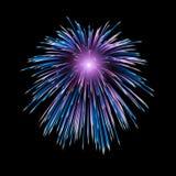 Vuurwerk die in hemel exploderen Stock Afbeeldingen