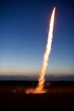 Vuurwerk die weg vernietigen Royalty-vrije Stock Foto