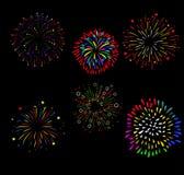 Vuurwerk en Gelukkig Nieuwjaar Royalty-vrije Stock Foto's