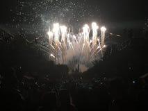 Vuurwerk en rook Stock Foto's