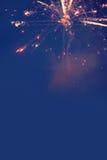 Vuurwerk en vakantie, viering Stock Foto