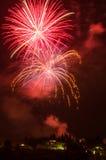 Vuurwerk in Fiesole Stock Afbeeldingen