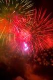 Vuurwerk-Fuegos artificiales Stock Foto's