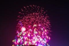 Vuurwerk in Hanoi Royalty-vrije Stock Afbeeldingen