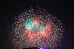 Vuurwerk in Hanoi Royalty-vrije Stock Fotografie