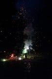 Vuurwerk in het parkeerterrein stock foto's
