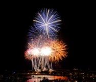 Vuurwerk in Honolulu 4 Juli royalty-vrije stock foto's