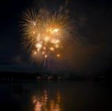 Vuurwerk Ignis Brunensis 2014 royalty-vrije stock afbeeldingen