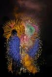 Vuurwerk in Japan Royalty-vrije Stock Foto's