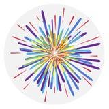 Vuurwerk, kleurrijk vuurwerk, begroeting royalty-vrije illustratie