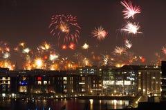Vuurwerk in Kopenhagen Stock Foto