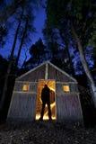 vuurwerk licht het schilderen silhouet stock afbeeldingen
