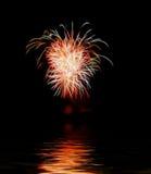 Vuurwerk met ruimte voor tekst Royalty-vrije Stock Foto