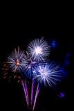 vuurwerk nieuw jaar 2017 - mooi kleurrijk geïsoleerd vuurwerk Royalty-vrije Stock Foto