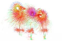 vuurwerk nieuw jaar 2017 - mooi kleurrijk geïsoleerd vuurwerk Stock Afbeeldingen