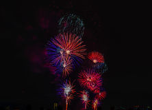 Vuurwerk NYC Stock Foto's