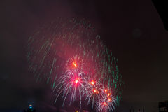 Vuurwerk NYC Royalty-vrije Stock Afbeelding