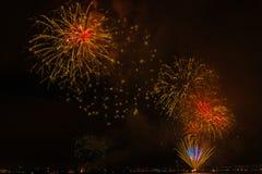 Vuurwerk NYC Stock Afbeelding