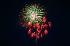 Vuurwerk in Omimaiko, Otsu, Shiga, Japan Royalty-vrije Stock Afbeelding