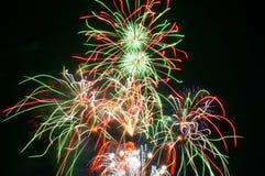 Vuurwerk in Omimaiko, Otsu, Shiga, Japan Royalty-vrije Stock Fotografie
