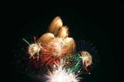 Vuurwerk in Omimaiko, Otsu, Shiga, Japan Royalty-vrije Stock Foto's