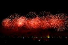 Vuurwerk op Australische dag in Perth 2015 Stock Foto's
