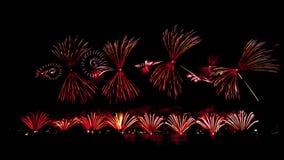 Vuurwerk op Australische dag in Perth 2015 Royalty-vrije Stock Afbeelding