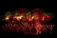 Vuurwerk op Australische dag in Perth 2015 Royalty-vrije Stock Foto