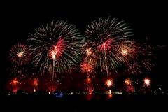 Vuurwerk op Australische dag in Perth 2015 Stock Afbeeldingen