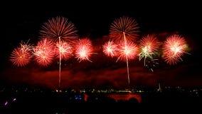 Vuurwerk op Australische dag in Perth 2015 Stock Fotografie