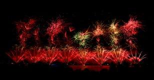 Vuurwerk op Australische dag in Perth 2015 Royalty-vrije Stock Foto's